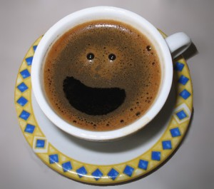 That is one happy coffee