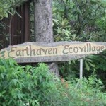 Earthaven welcome sign