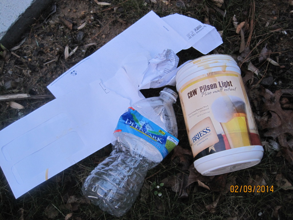 Litter picked up by Peg