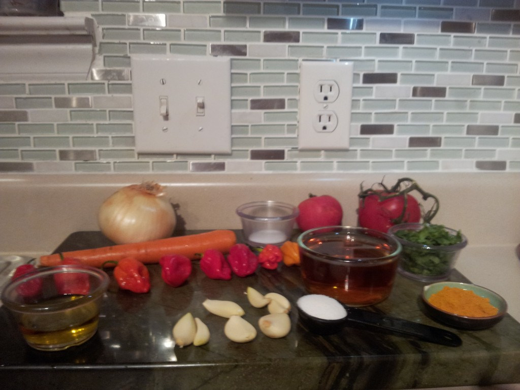 Habanero Garlic Hot Sauce Ingredients